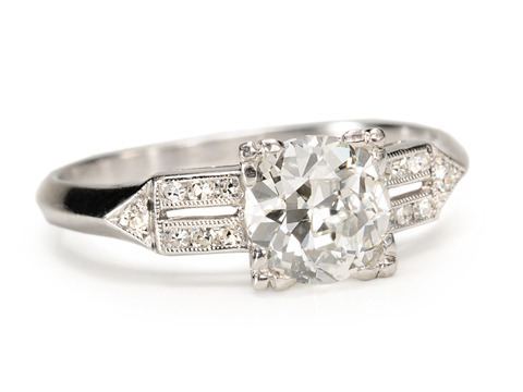 Gorgeous 1.13 c Diamond Platinum Ring