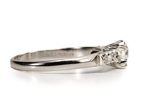 A Winning Art Deco Diamond Engagement Ring