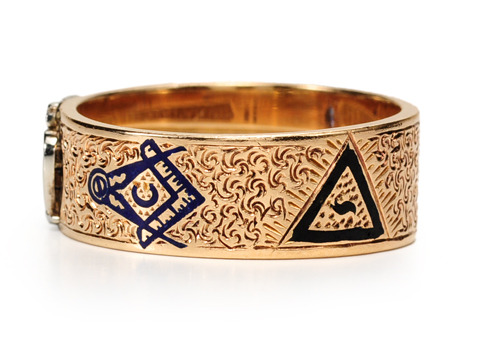 Symbolism in a Masonic Enamel Ring