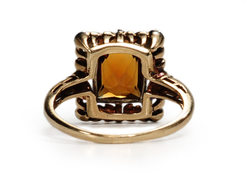 Many Facets - Citrine & Diamond Ring
