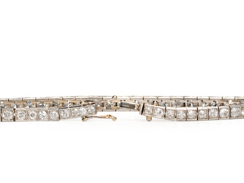 Line Light - Art Deco Platinum Diamond Bracelet
