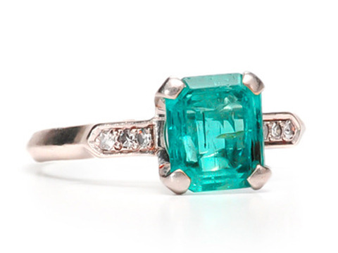 Speaking of Chic - Emerald & Diamond Ring