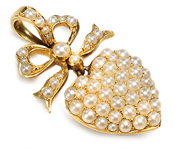 Antique Wonder: Pearl Heart Pendant