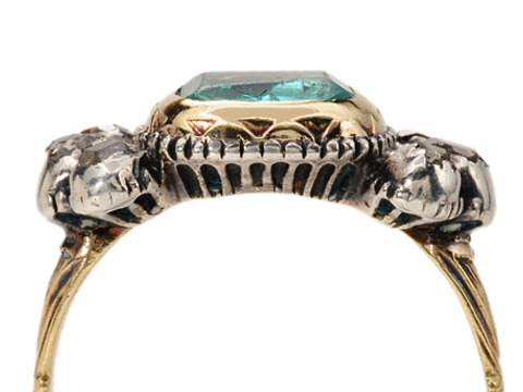 Rare 17th C. Emerald & Diamond Ring
