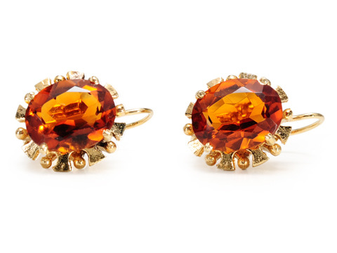 A Taste of Honey:  20th C. Citrine Earrings