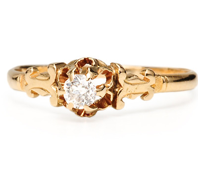 Edwardian Princess: Solitaire Diamond Ring