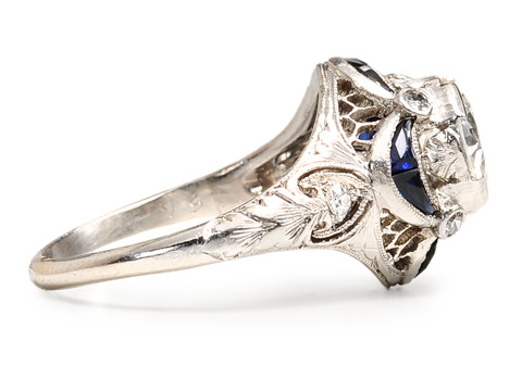 Edwardian Élan in a Diamond Sapphire Ring