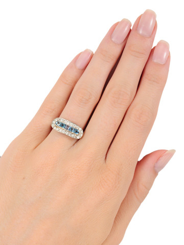 Heavenly Aquamarine Diamond Ring