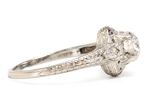 Signed Lambert Bros. Edwardian Diamond Ring
