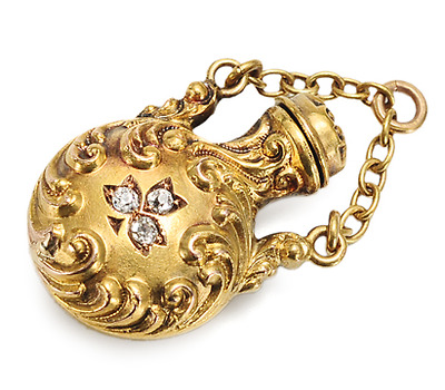 Scents Around - Art Nouveau Perfume Bottle Pendant