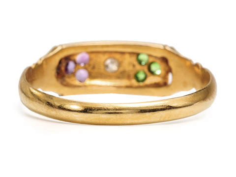 Historic British Hallmarked Suffragette Ring