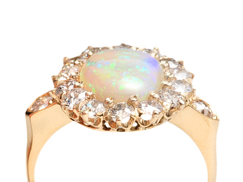 Watery Depths: Art Deco Opal Diamond Ring