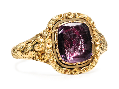 Georgian Foiled Amethyst Ring
