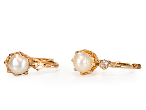 Gourmandise: French Natural Pearl Earrings