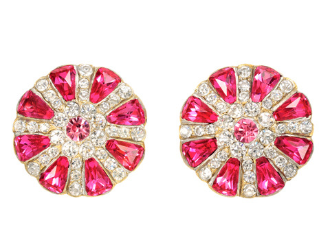 Wheel of Fortune: Antique Paste Button Earrings