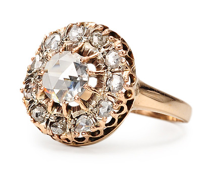 Edwardian Diamond Cluster Ring