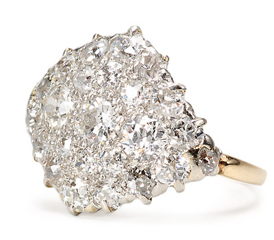 Art Deco Dramatic: Diamond Pavé Ring