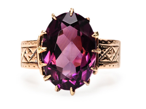 Victorian Royal in an Amethyst Ring