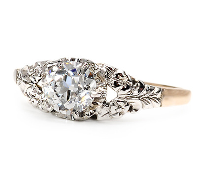 E Color Solitaire Diamond Engagement Ring