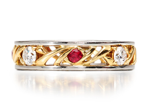 Carrington Diamond & Ruby Wedding Ring