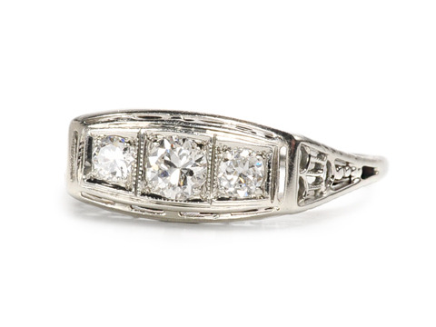 Triple Threat: Art Deco Diamond Ring