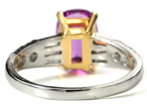 Wild Orchid Wonder: No Heat Purple-Pink Sapphire Ring