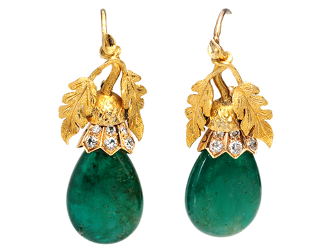 Fabulous Emerald Diamond Earrings