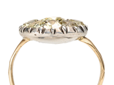Late 18th C. Chrysoberyl Cluster Ring