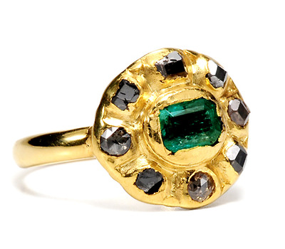 Antique Spanish Emerald & Diamond Ring