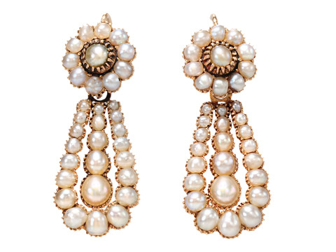 Georgian Pearl Envy in a Rose Gold Earring