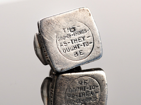 Lucky You: Antique Billiken Silver Charm
