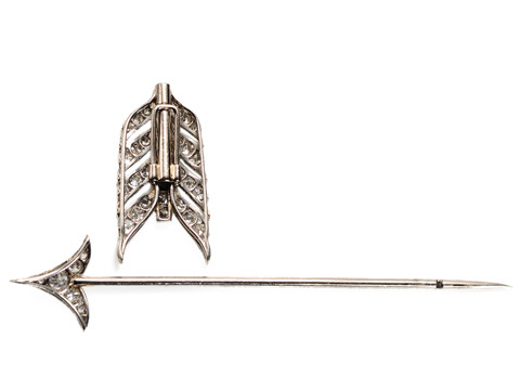 Art Deco Diamond Platinum Stickpin