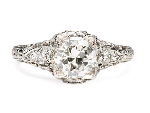 Transitional Brilliant 1 ct Diamond Engagement Ring