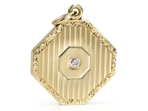Art Deco Glam: Diamond Locket Pendant