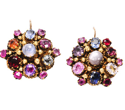 Victorian Cornucopia of Gems in an Earring