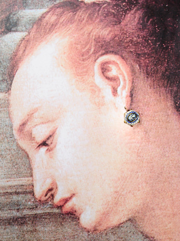 17th Century Enamel Cameo Earrings