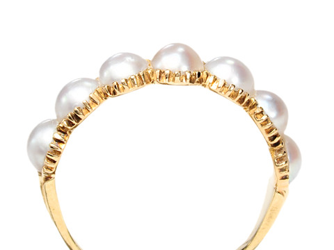 Classic Victorian Pearl Ring