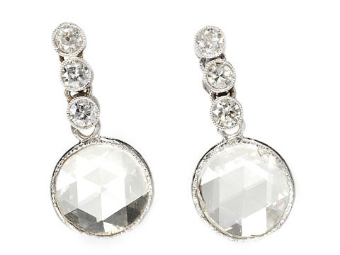 Divine Madness: Art Deco Diamond Earrings