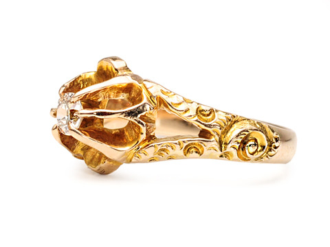 Sweet Buttercup: Victorian Diamond Ring