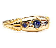 At a Glance: Antique Sapphire Diamond Ring