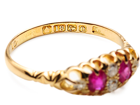 Diamonds & Rubies in an Edwardian Delight