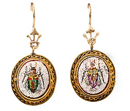 Italian Antique Micro Mosaic Earrings