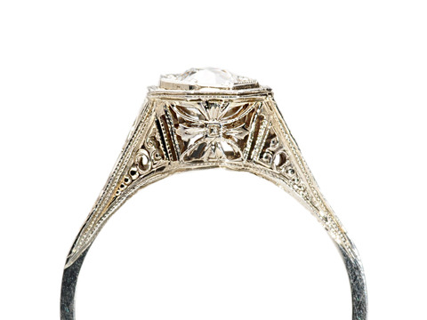 American Art Deco: Belais Bros. Diamond Ring