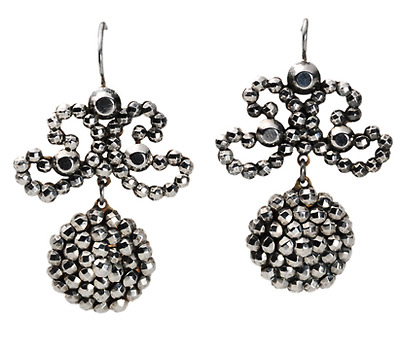 Victorian Cut Steel Earrings