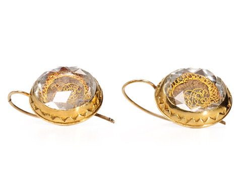 Historical Antique Stuart Crystal Earrings