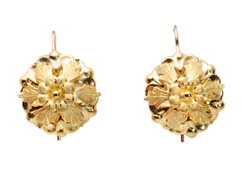 Fine Antique Floral Earrings