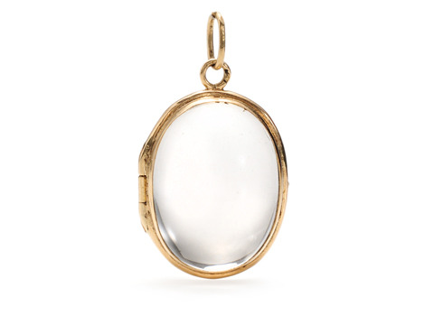 Crystal Clear Memories: Antique Rock Crystal Locket Pendant