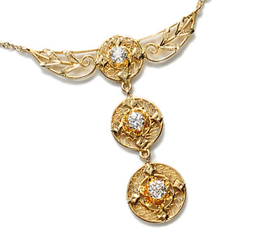 Take Flight: Edwardian Diamond Pendant Necklace