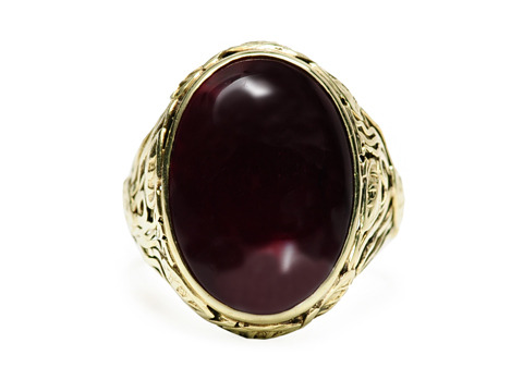 Arts & Crafts Wonder: Antique Garnet Ring
