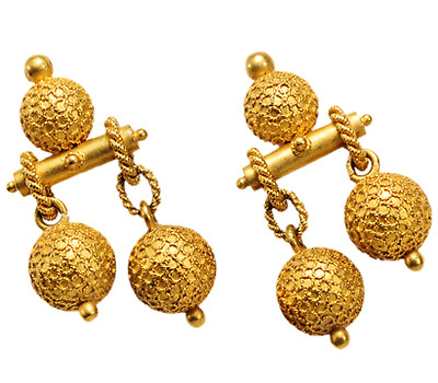 The World on a String - Victorian Gold Earrings